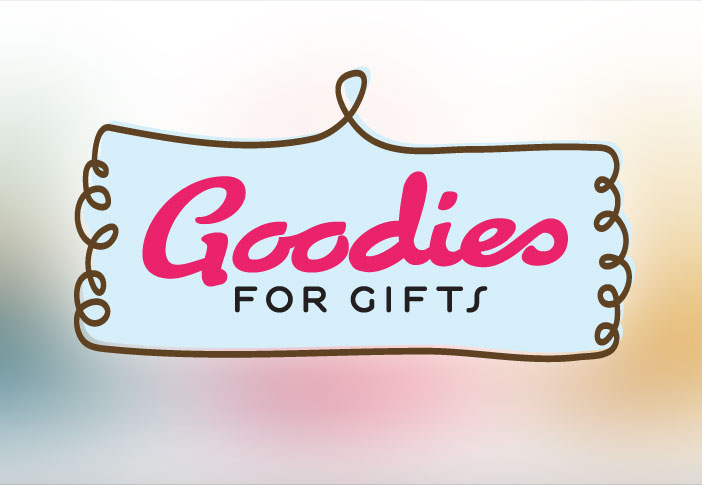 Goodies For Gifts hand baked logo