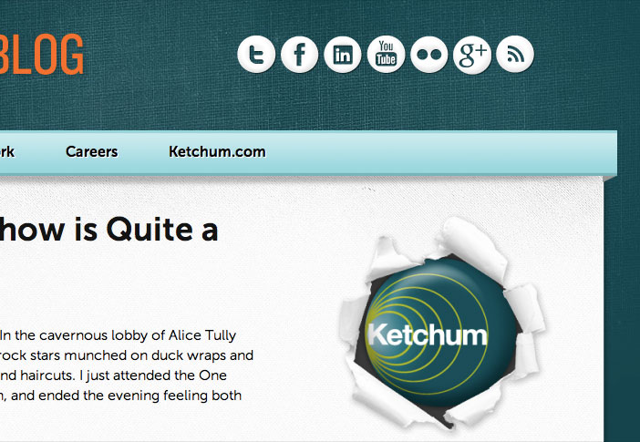 A sidebar CTA taking you to the Ketchum Corporate site