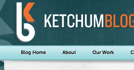The Ketchum Blog Logo and Navigation Bar