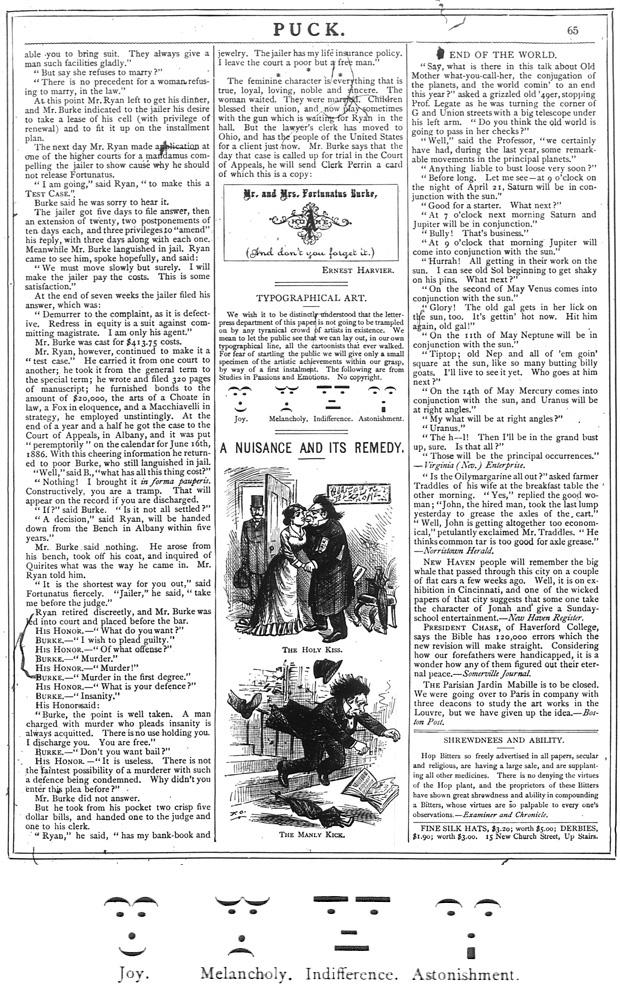 Puck Magazine, March 30, 1881