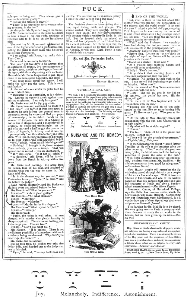 Puck Magazine 1881