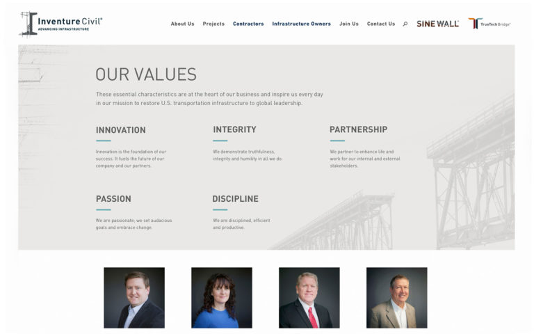 Inventure Civil Values Page