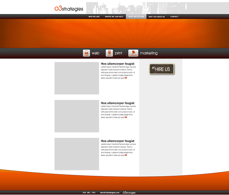 O3 Strategies Web Design 2008