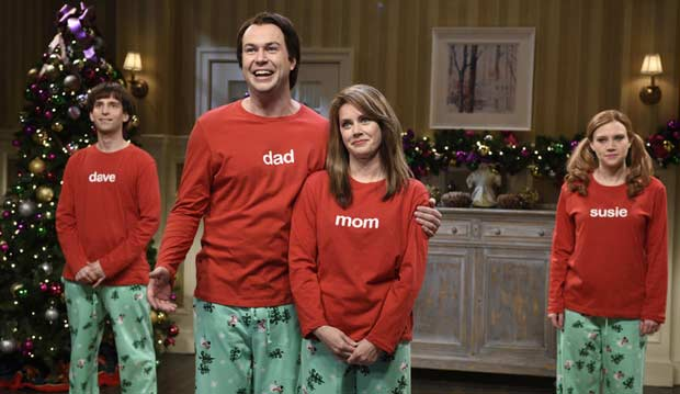 fb7c1aa4bdfde SNL Spoofs Holderness Family With Christmas Sweatpants | Walk West