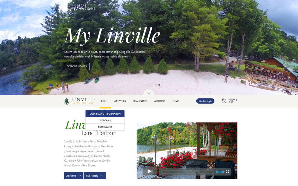 Linville-Homepage