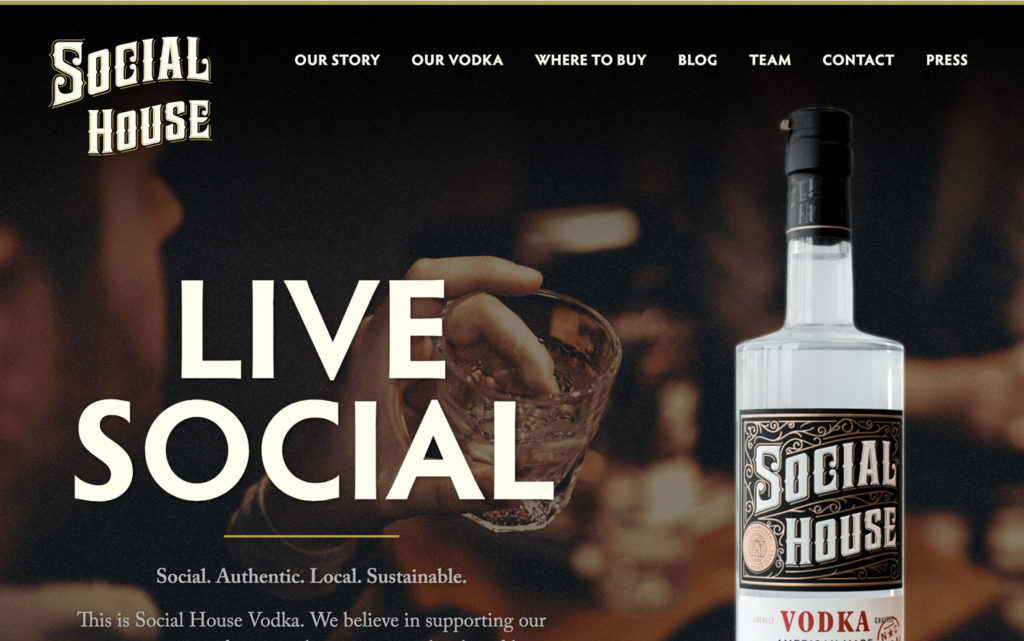 Social House homepage