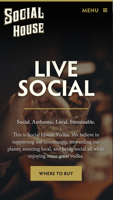 Social House mobile page