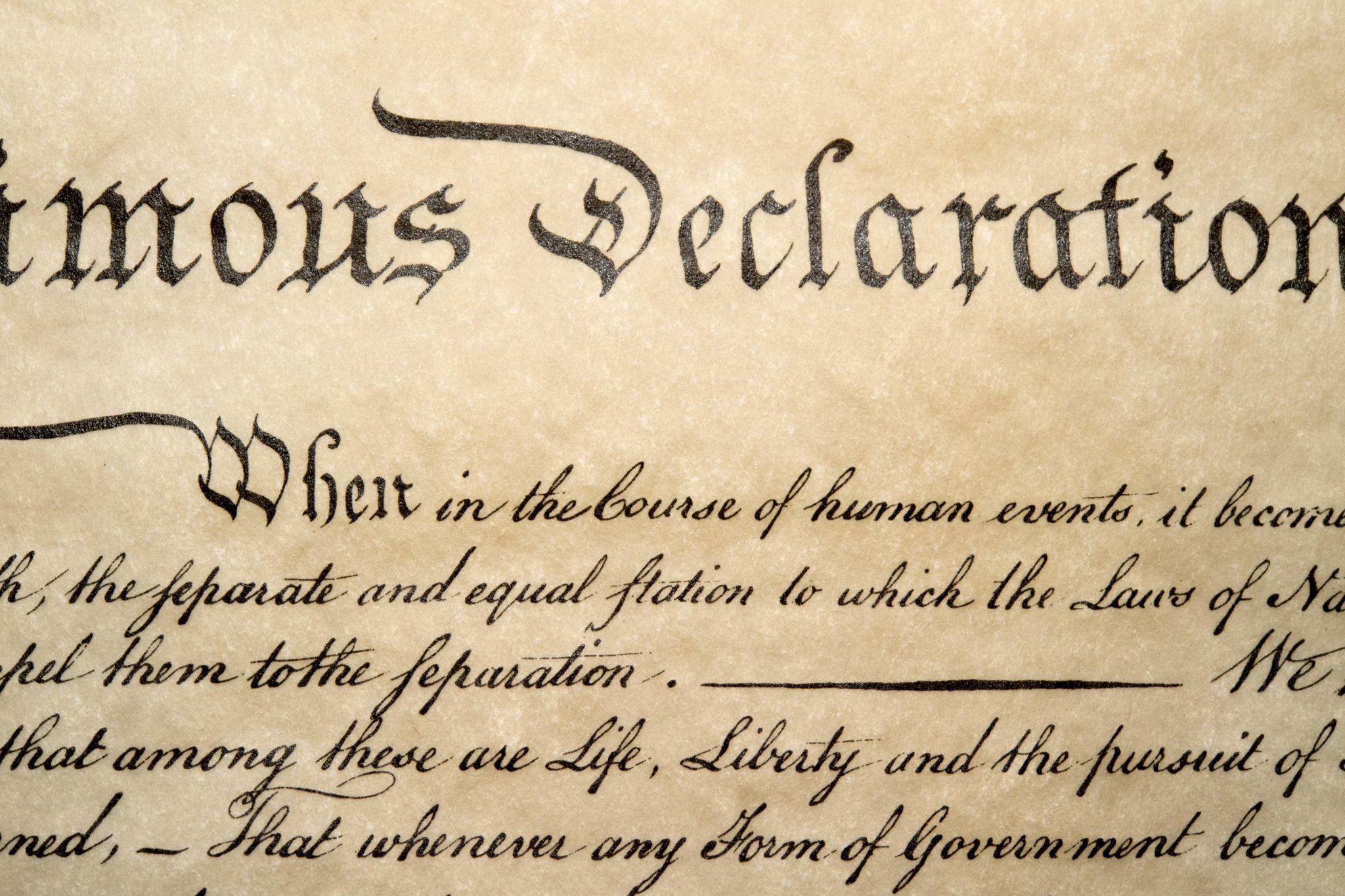 Declaration of Independence - We Hold These Truths to be Self-Evident