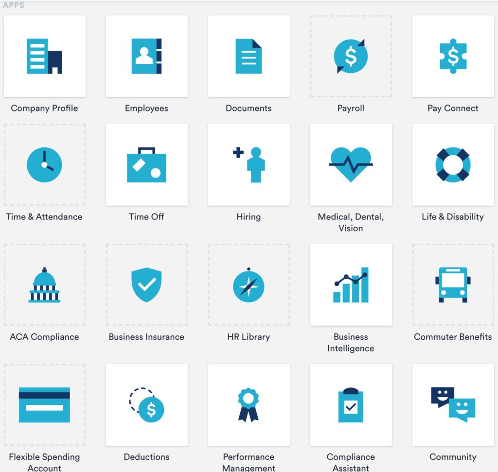 Zenefits icons