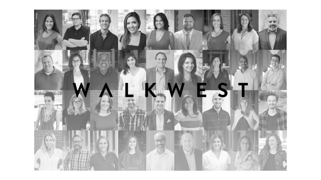 Photo Collage of the Walk West Team