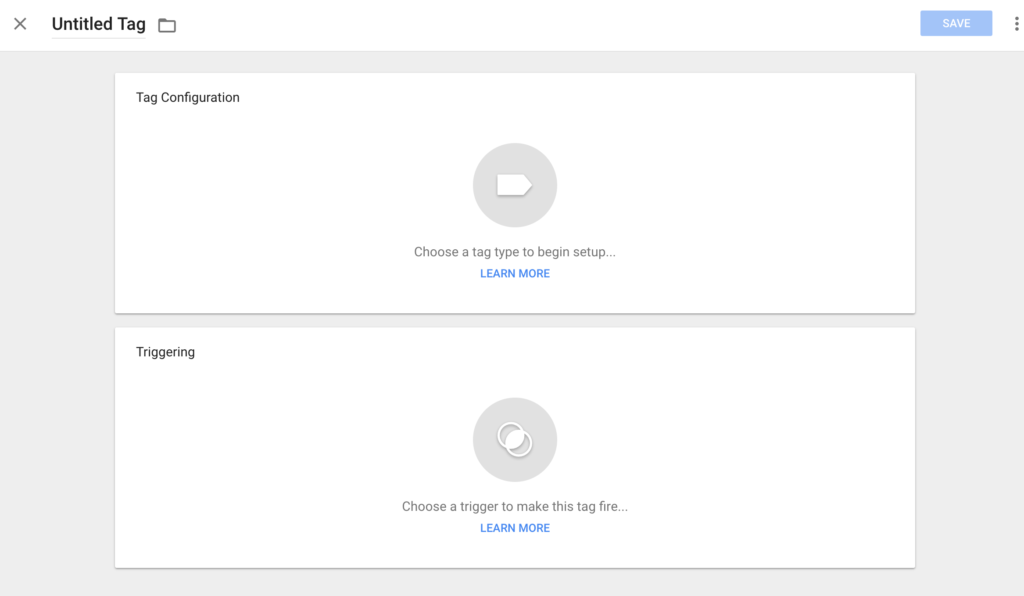 Dashboard to Create Your Analytics Tag in Google Tag Manager