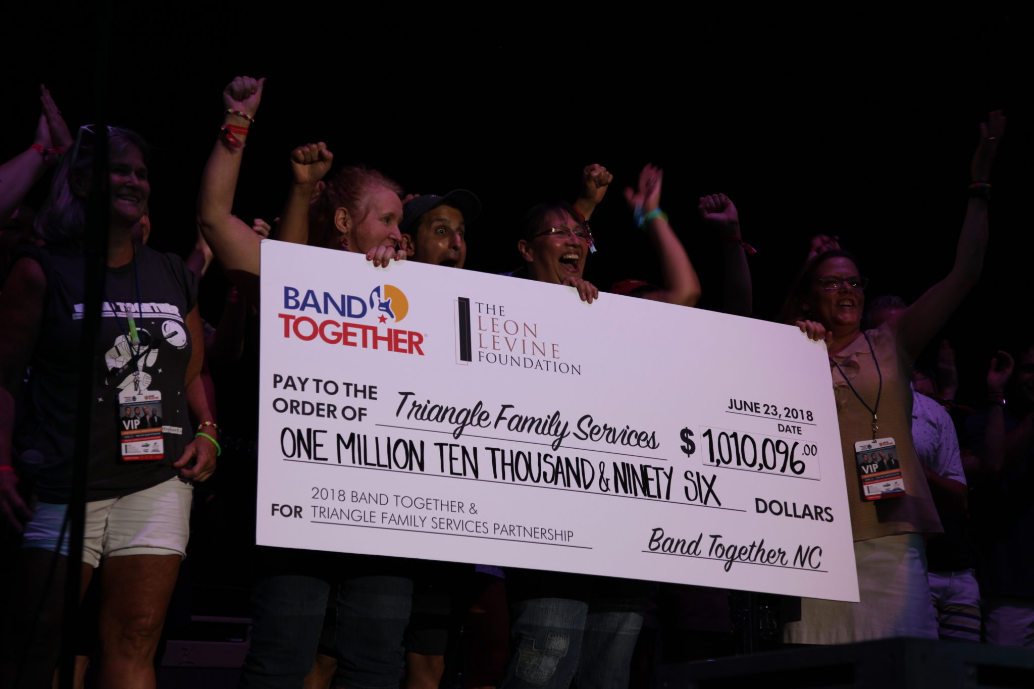 band together giant check