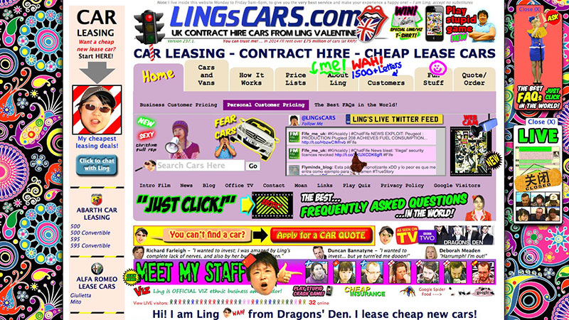 Ling's Cars old website