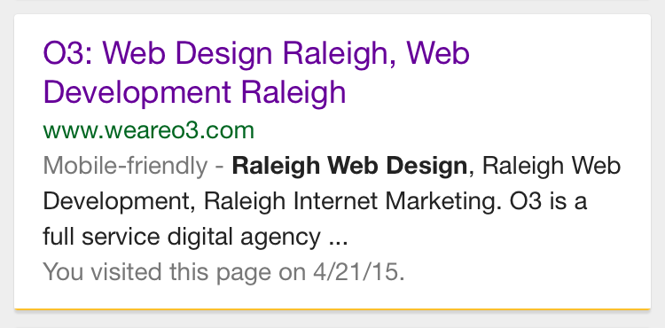 O3 Web Design Raleigh and Importance of Mobile-friendly for Google