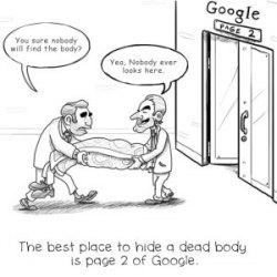 SEO joke Google page 2