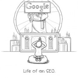 praise Google SEO joke